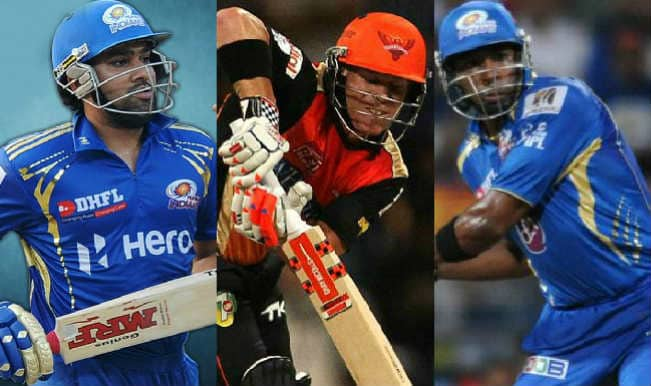 Mumbai Indians vs Sunrisers Hyderabad, IPL 2015 23nd Match: Rohit Sharma, David Warner feature in 5 key players for MI vs SRH clash