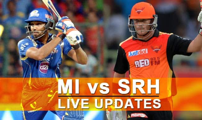 MI win by 20 runs | Live Cricket Score Updates Mumbai Indians vs Sunrisers Hyderabad, IPL 2015: MI vs SRH in 20 Overs