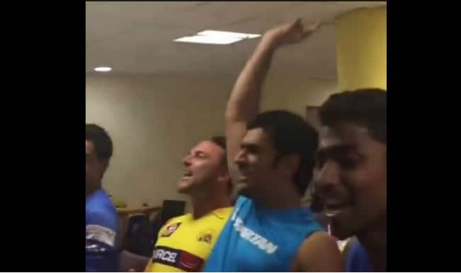 """We are f***** Chennai,"" sings CSK skipper MS Dhoni and his team-mates"