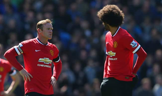 Manchester United stunned 3-0 by Everton in Barclays Premier League 2014-15