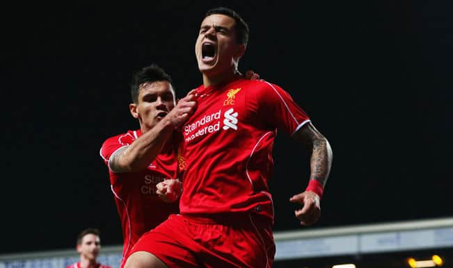 FA Cup 2014-15: Philippe Coutinho's strike sends Liverpool to Wembley