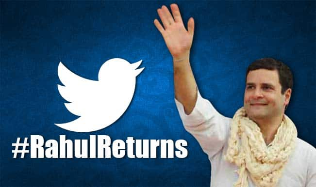 #RahulReturns: Twitterati trolls Rahul Gandhi's comeback from sabbatical