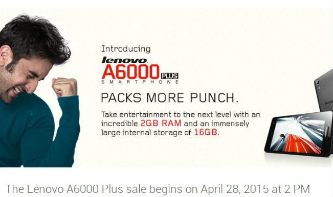 Lenovo A6000 to go on sale on Flipkart at 2 pm