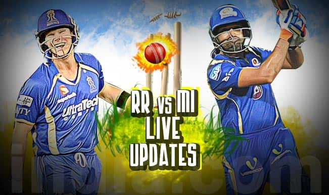 RR won by 7 wickets | Live Cricket Score Updates Rajasthan Royals vs Mumbai Indians, IPL 2015: Steven Smith walks away with Man of the Match award