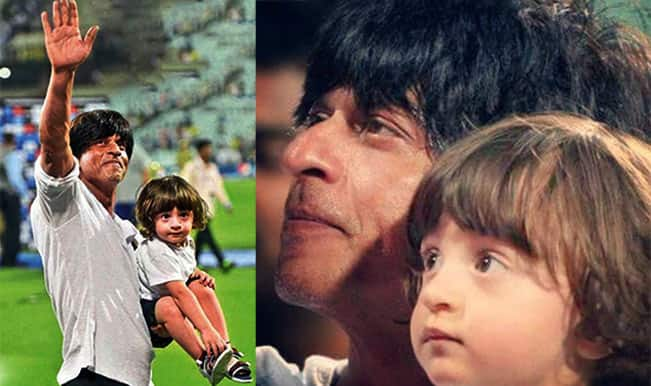 Shah Rukh Khan with son AbRam: Picture collection of Sexy Father & Cute Son duo from IPL 2015 opener!