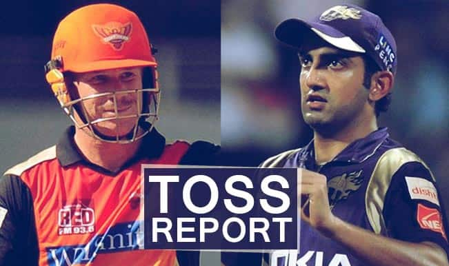 Sunrisers Hyderabad vs Kolkata Knight Riders, IPL 2015 Toss Report and Playing XI: KKR win toss, elect to bowl first against SRH