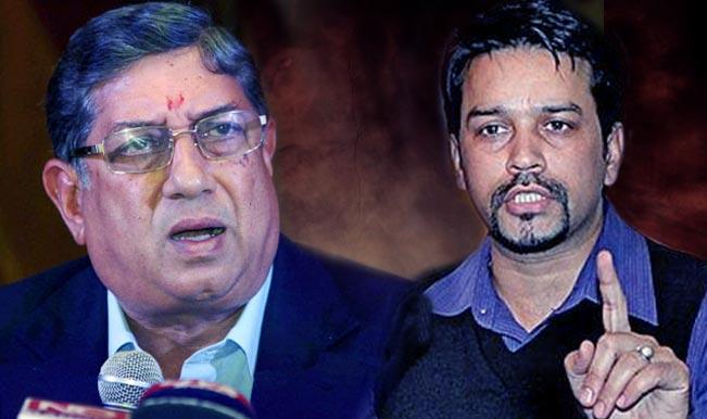 बुकी के साथ देखे गए अनुराग ठाकुर, एन. श्रीनिवासन पर जासूसी कराने का इलज़ाम