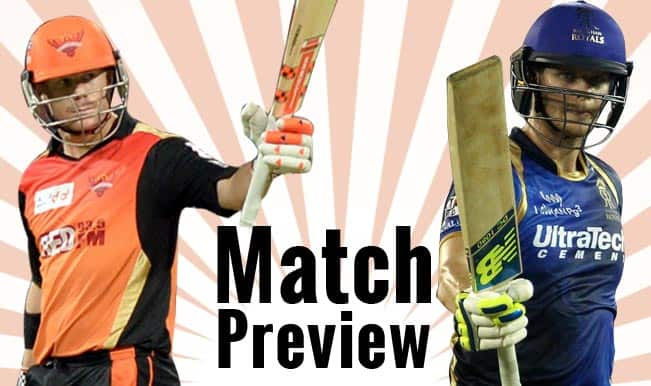 Sunrisers Hyderabad vs Rajasthan Royals IPL 2015 Match 11 Preview: On fire RR face buzzing SRH in Visakhapatnam