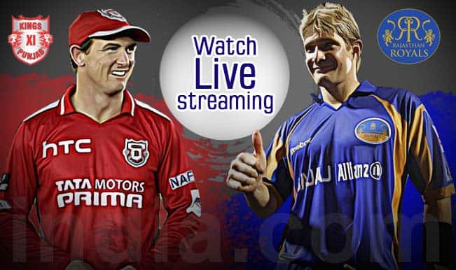 Kings XI Punjab vs Rajasthan Royals, IPL 2015: Watch Free Live Streaming and Telecast of KXIP vs RR on Star Sports Online