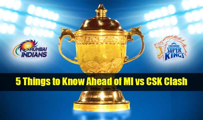 Mumbai Indians vs Chennai Super Kings IPL 2015 Final: 5 things to know ahead of MI vs CSK clash