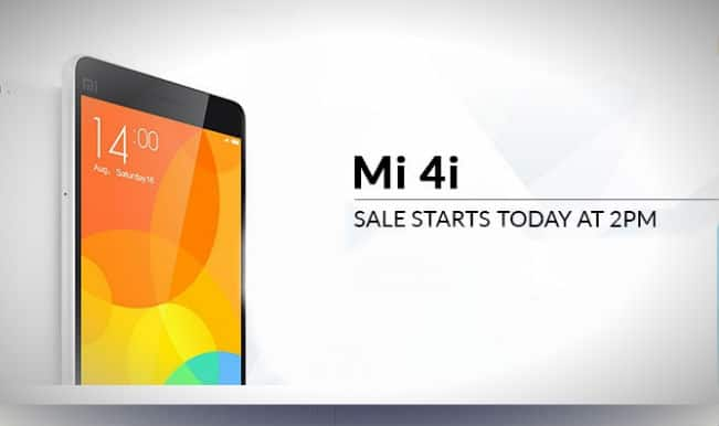 Flipkart com Xiaomi Mi4i flash sale: 40,000 units priced at