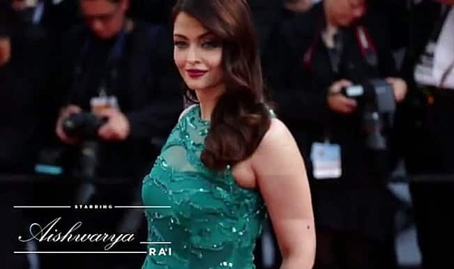 Cannes 2015 video: Aishwarya Rai Bachchan dazzles in green on the red carpet!