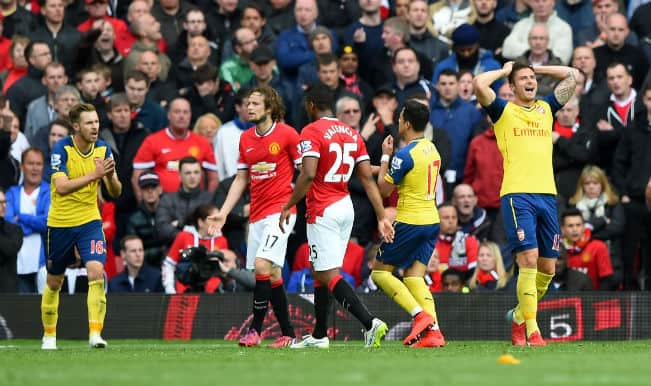 Manchester United miss chance to jump to 3rd spot; draw with Arsenal 1-1 in Barclays Premier League 2014-15