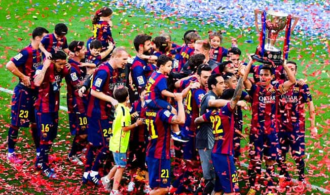La Liga 2014-15: Xavi Hernandez makes final Barcelona bow as Valencia qualify for UEFA Champions League; Eibar relegated