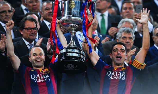 Barcelona set sights on treble with Copa Del Rey 2014-15 win; beat Athletic Bilbao 3-1 through Lionel Messi brace