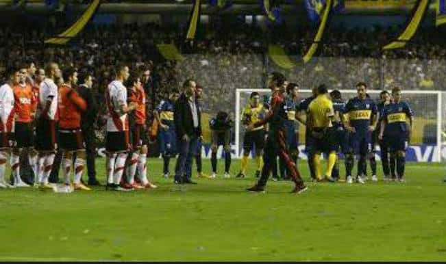 Boca Juniors-River Plate match suspended after players attacked with pepper spray