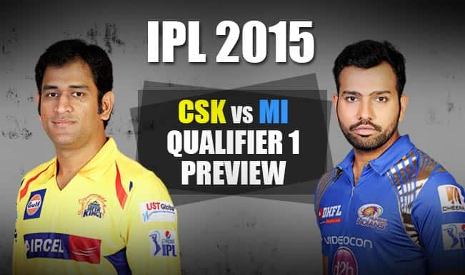 Chennai Super Kings vs Mumbai Indians, IPL 2015 Qualifier 1 Preview: MI rely on home support to end CSK knockout hoodoo