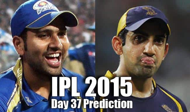 IPL 2015 Day 37: Today's Prediction, Current Points Table and Schedule for upcoming matches of IPL 8
