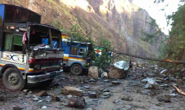 Earthquake in Nepal: Landslide blocks river in Nepal, raises fears of flood