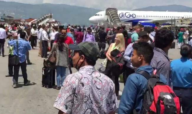 Latest Video from Nepal Earthquake: Huge aftershock felt at Tribhuvan Airport in Kathmandu