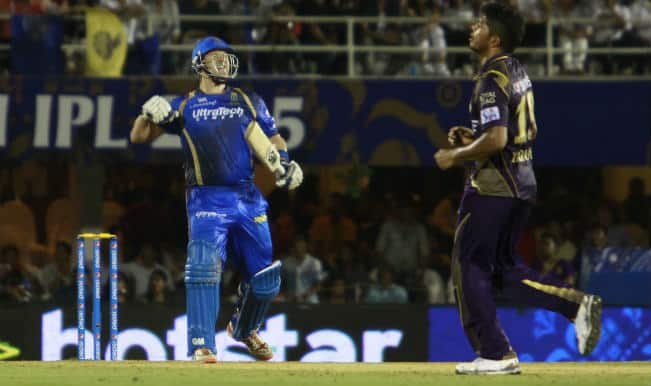Shane Watson's century takes Rajasthan Royals into play-offs