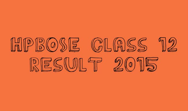 Hpbose.org official HPBOSE Class 12 result 2015 website: Himachal Pradesh Board of School Education declare class 12 results 2015