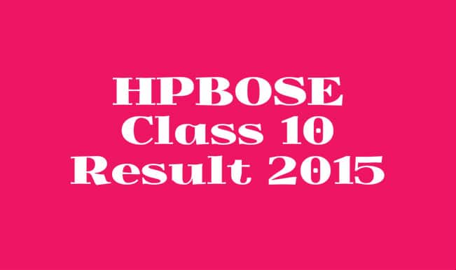 Hpbose.org official HPBOSE Class 10 result 2015 website: Himachal Pradesh Board of School Education to declare class 10 results 2015