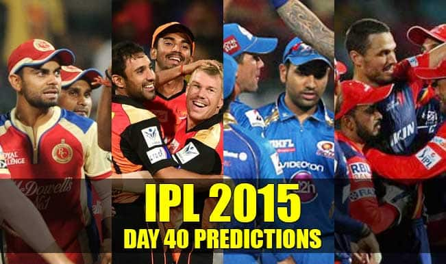 IPL 2015 Day 40: Today's Prediction, Current Points Table and Schedule for upcoming matches of IPL 8
