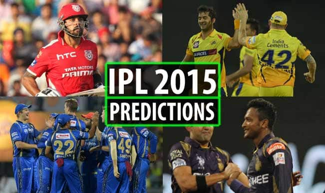 IPL 2015 Day 39: Today's Prediction, Current Points Table and Schedule for upcoming matches of IPL 8