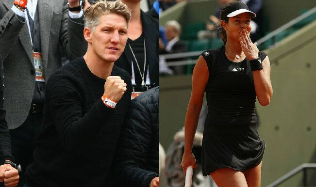 Bastian Schweinsteiger cheers girlfriend Ana Ivanovic as she reaches French Open 2015 quarterfinals