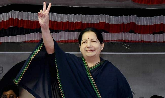 J Jayalalithaa takes oath as Tamil Nadu Chief Minister for fifth time