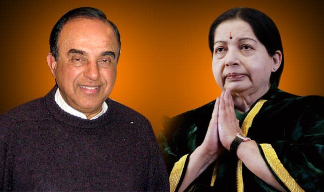 Subramanian Swamy to move Supreme Court against Jayalalithaa's acquittal if Karnataka government doesn't do