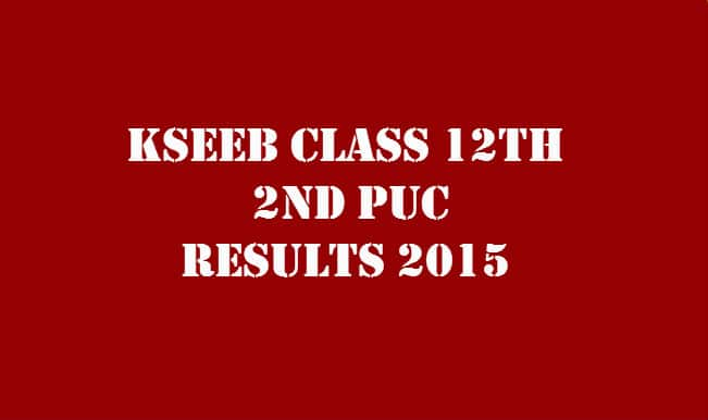 Karresults.nic.in & Kseeb.kar.nic.in 2nd PUC Results 2015 announced: Check Karnataka Board 2nd PUC, KSEEB class 12th exam results with roll no. online