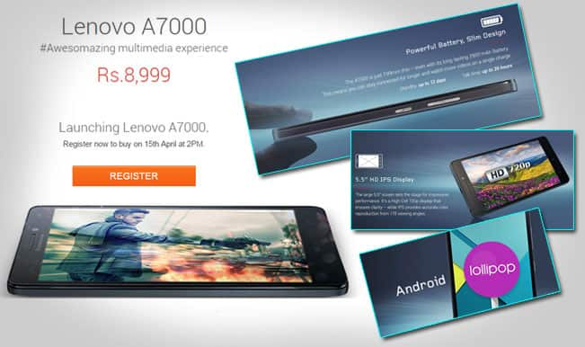Flipkart Exclusive: Lenovo A7000 to go on sale today at 2 pm IST