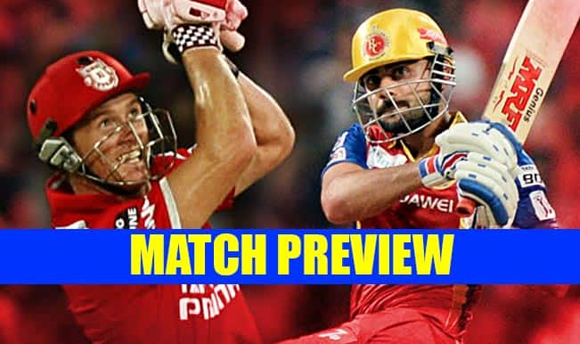 Kings XI Punjab vs Royal Challengers Bangalore IPL 2015 Match 50 Preview: RCB favourites against bottom-placed KXIP