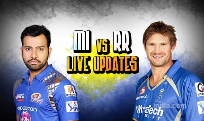 Mumbai Indians win by 8 runs, Ambati Rayudu is Man of the Match | Live Cricket Score Updates Mumbai Indians vs Rajasthan Royals, IPL 2015