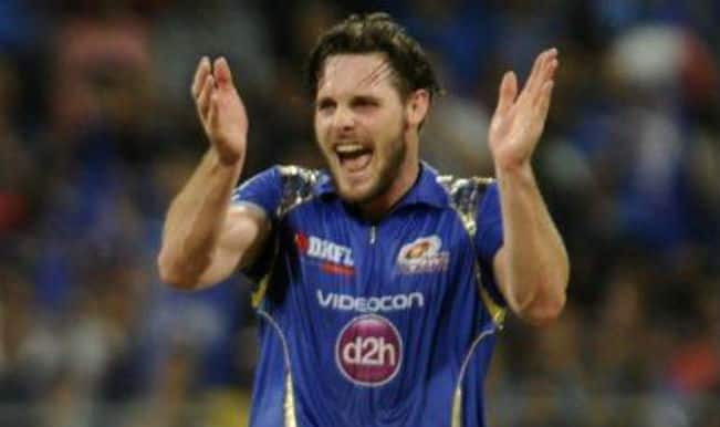 IPL 2015: Mumbai Indians pacer Mitchell McClenaghan reprimanded for showing dissent to umpire