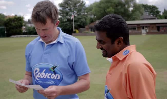 Muttiah Muralitharan and Graeme Swann face-off in 50 pence spin challenge – Watch Video