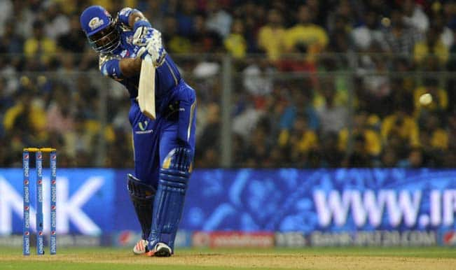 Mumbai Indians set target of 188 runs for Chennai Super Kings to win