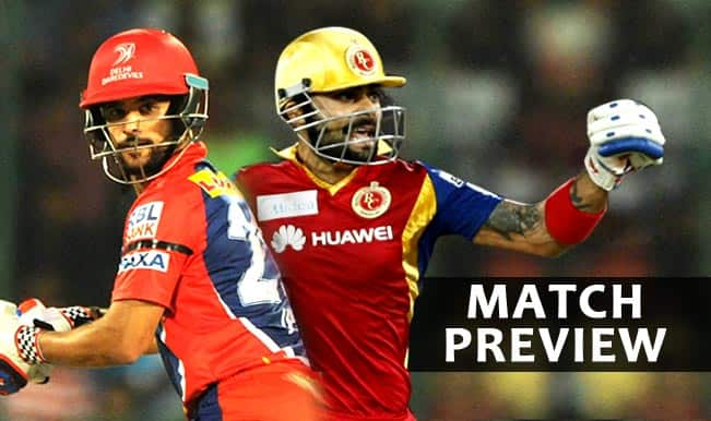 Royal Challengers Bangalore vs Delhi Daredevils IPL 2015 Match 55 Preview: RCB one step away from playoffs berth, face DD