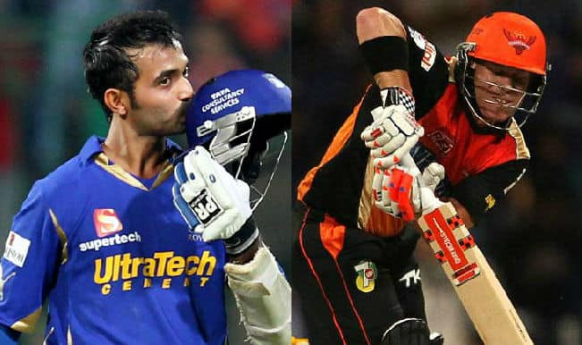 Rajasthan Royals vs Sunrisers Hyderabad IPL 2015, 41st Match: Ajinkya Rahane, David Warner feature in key players for RR vs SRH clash