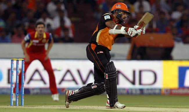 IPL 2015: Royal Challengers Bangalore defeated Sunrisers Hyderabad by 6 wickets in rain curtailed match