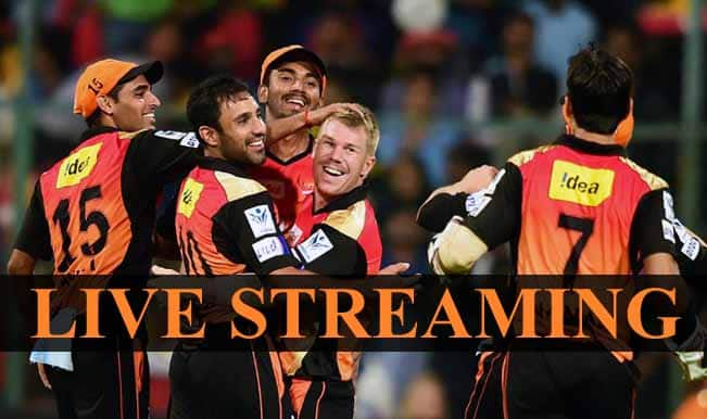 Sunrisers Hyderabad vs Royal Challengers Bangalore, IPL 2015: Watch Free Live Streaming and Telecast of SRH vs RCB on Star Sports Online