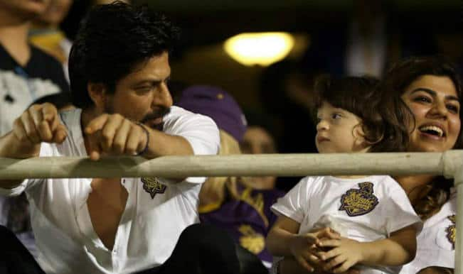 Shah Rukh Khan and his son AbRam Twitter conversation about why KKR lost to RR is hilarious!