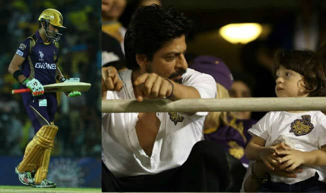 Shah Rukh Khan and AbRam missing Kolkata Knight Riders in IPL 2015 Final at Eden Gardens badly!