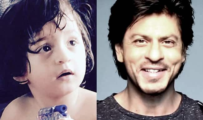 Shah Rukh Khan takes valuable life lessons from his li'l son AbRam! See adorable pic