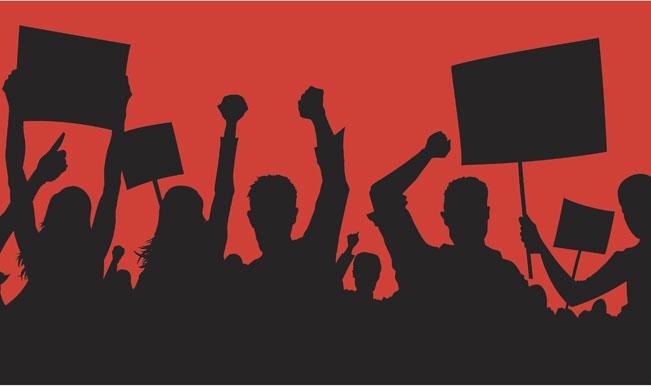 कश्मीरी पंडितों का जंतर-मंतर पर प्रदर्शन
