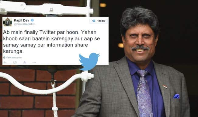 Kapil Dev on Twitter: Now, follow and chat with the former India cricket captain!