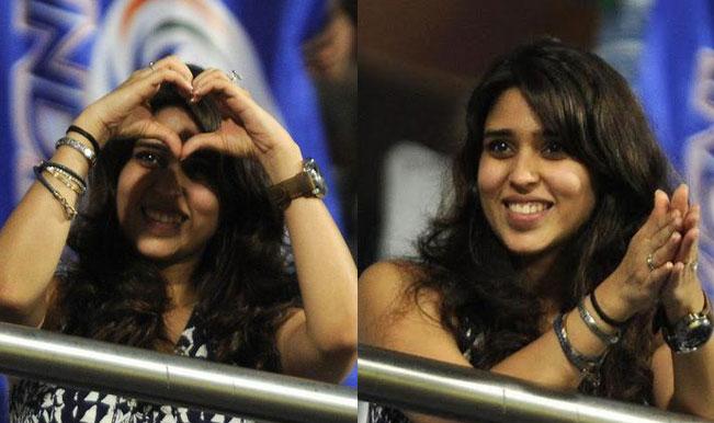 Ritika Sajdeh, MI skipper Rohit Sharma fiancee is lucky cheerleader against CSK in IPL 2015! (View Pics)