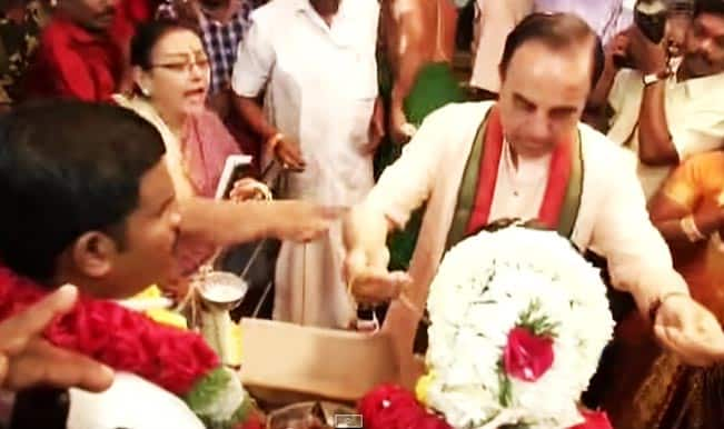 BJP leader Dr Subramanian Swamy ties knot again? Watch video